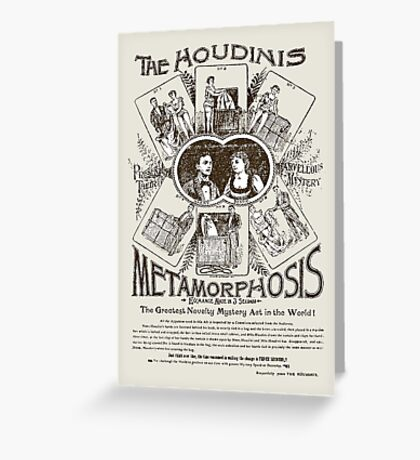 the Houdinis Greeting Card