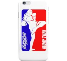 muay thai fighter thailand martial art sport logo badge sticker shirt iPhone Case/Skin