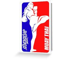 muay thai fighter thailand martial art sport logo badge sticker shirt Greeting Card