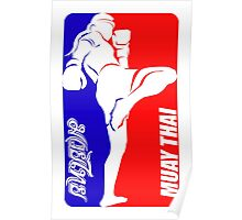 muay thai fighter thailand martial art sport logo badge sticker shirt Poster