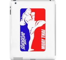 muay thai fighter thailand martial art sport logo badge sticker shirt iPad Case/Skin