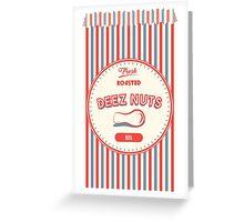 Vintage Deez Nuts Greeting Card
