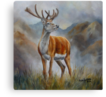 Prince Of The Glen (red stag) Canvas Print