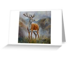 Prince Of The Glen (red stag) Greeting Card