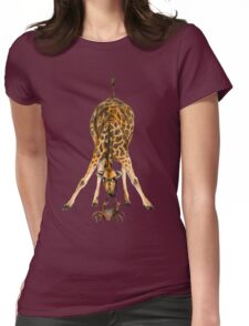 Curiosity killed the cat, not the giraffe Womens Fitted T-Shirt