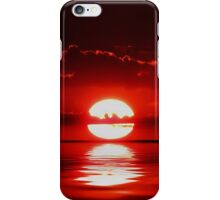 red reflection iPhone Case/Skin