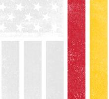 Spanish American Flag - Half Spanish Half American Sticker