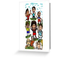 The World Cup Toons Greeting Card