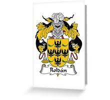 Roldan Coat of Arms/Family Crest Greeting Card