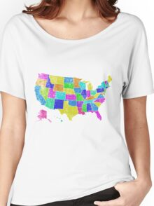 United States of America States - All USA States Women's Relaxed Fit T-Shirt