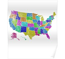 United States of America States - All USA States Poster