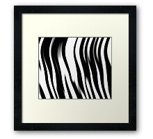 Zebra Stripes Faux Animal Fur Framed Print