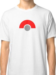 Abstract Grey Ball with Red Classic T-Shirt