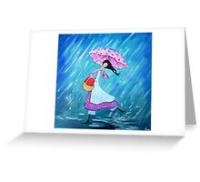 I will dance through the rain with you Greeting Card
