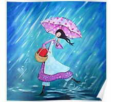 I will dance through the rain with you Poster