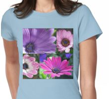 Singing of Summer - Sunkissed Cape Daisies Collage Womens Fitted T-Shirt