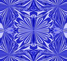 Blue Marigolds by Artdesires