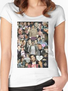 Sherlock collage 3 Women's Fitted Scoop T-Shirt