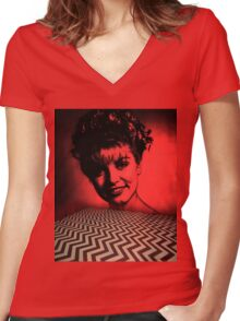 Laura Palmer - Twin Peaks Women's Fitted V-Neck T-Shirt