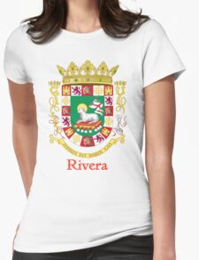 Rivera Shield of Puerto Rico Womens Fitted T-Shirt