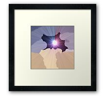 Moon Clouds Framed Print