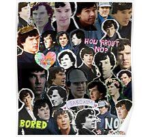 Sherlock collage 4 Poster