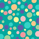 Pastel Confetti Dots  by Natalie Tyler