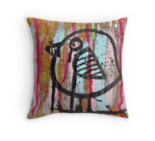 Cardboard Owl Throw Pillow