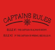 Captains Rules Kids Tee