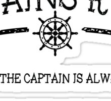 Captains Rules Sticker