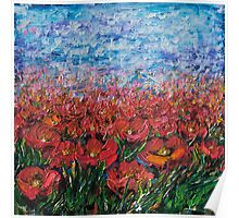 Red Poppy Field - by Lena Owens Poster