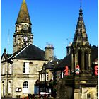 The Town Square Falkland by Francis  McCafferty This is Fife!