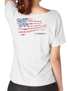 American Flag RED  Women's Relaxed Fit T-Shirt