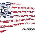 American Flag RED  by Fl  Fishing
