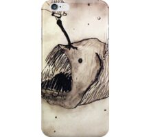 Angler fish with a butterfly iPhone Case/Skin