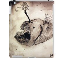 Angler fish with a butterfly iPad Case/Skin