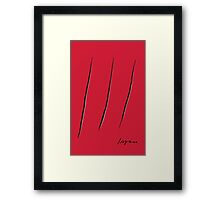 Mashup Fontana-Wolverine Framed Print