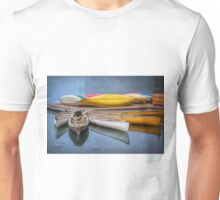 Moraine Lake Canoes Unisex T-Shirt
