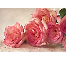 Rosy Elegance - Digital Watercolor  Photographic Print