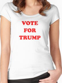 VOTE FOR TRUMP Women's Fitted Scoop T-Shirt