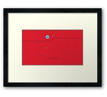Pokedex - Red Framed Print