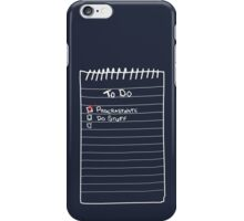 Todo List iPhone Case/Skin