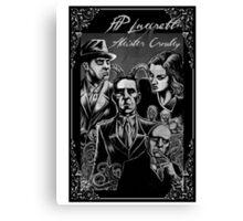 HP Lovecraft vs Aleister Crowley Canvas Print