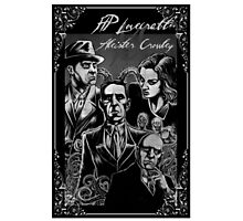 HP Lovecraft vs Aleister Crowley Photographic Print