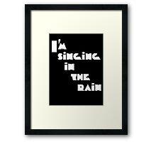 Singin' in the rain Framed Print