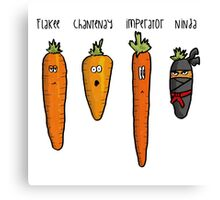 Types of carrot Canvas Print