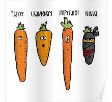 Types of carrot Poster