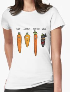 Types of carrot Womens Fitted T-Shirt