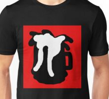 Red, black, white abstraction Unisex T-Shirt
