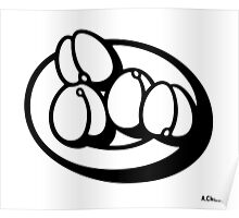 Plate with Peaches Poster